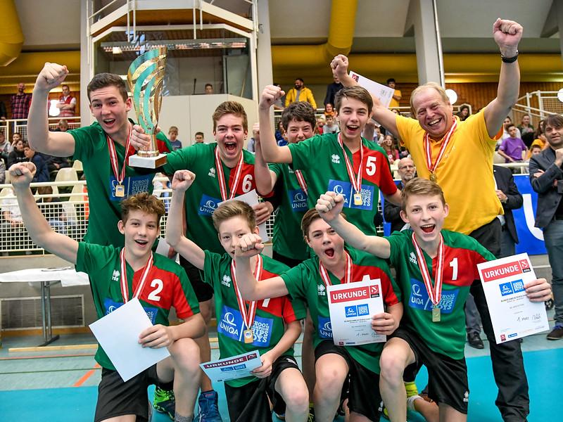 Bild zeigt eine Szene vom Uniqa School Championships Boys Bundesfinale 2017 in Wolfurt.