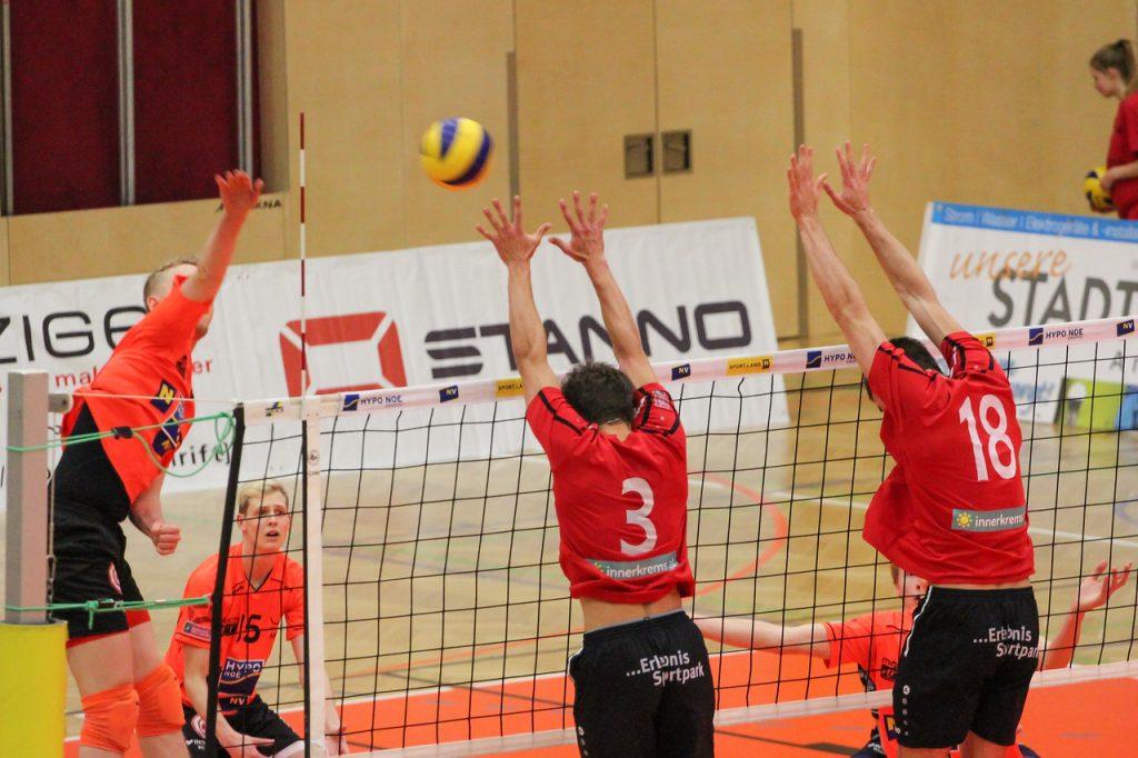 DenizBank AG Austrian Volley League Men 2016/17 - Spiel um P5 - SG VCA Amstetten NÖ/hotVolleys gg. VBK Wörther-See-Löen Klagenfurt - Bild zeigt: #5 Thomas Tröthann
