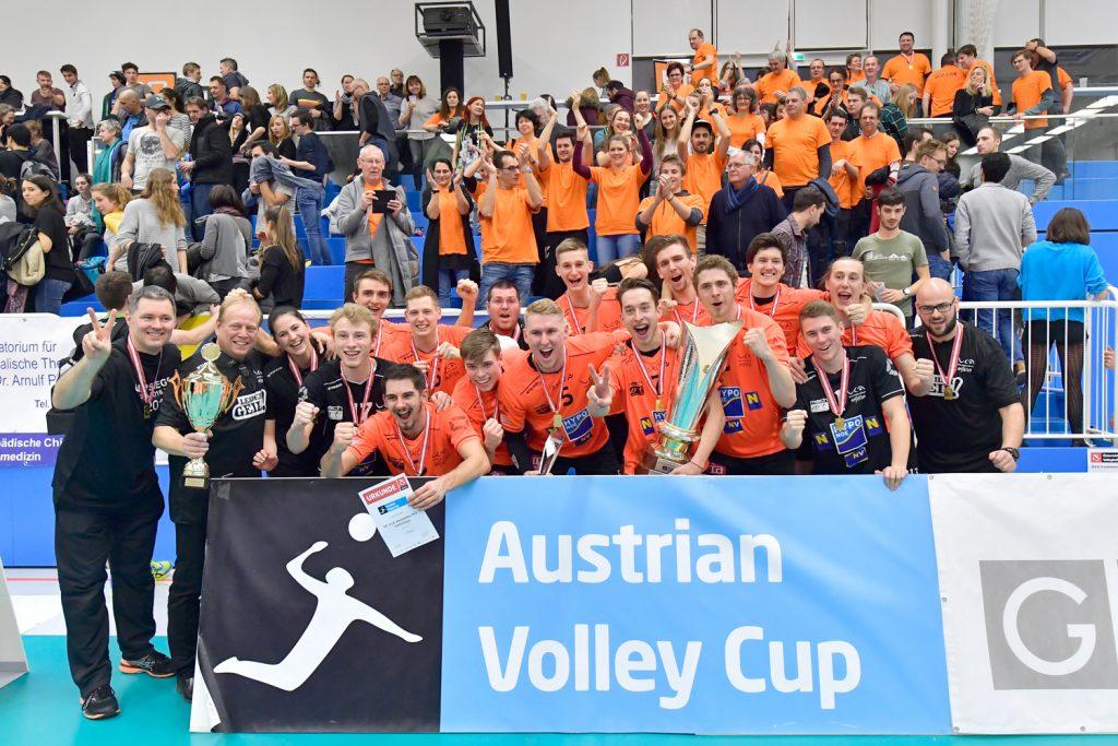 UVC Holding Graz vs SG VCA Amstetten N…/hotVolleys,  Cupfinale 2018 Herren, BLUE Box Arena - Graz