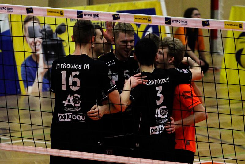 DenizBank AG Volley League Men 2017/18 SG VCA Amstetten NÖ/hotVolleys - VBK Wörther-See-Löwen Klagenfurt - 14/03/2018 - Credit: Peter Maurer - Bild zeigt: SG VCA Amstetten NÖ/hotVolleys