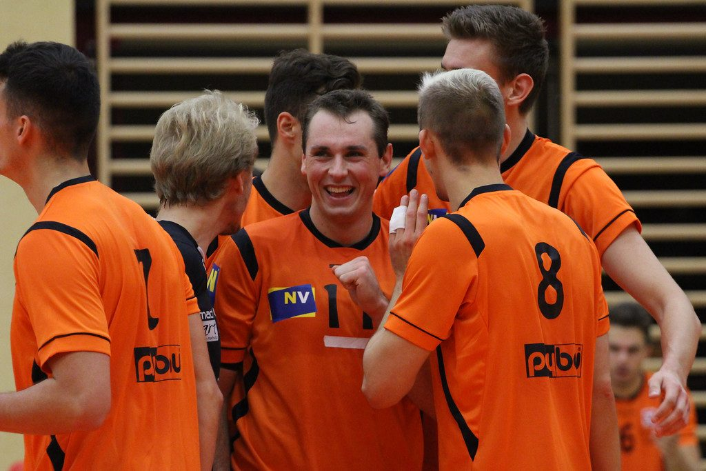 2018-19 DenizBank AG Volley League Men: SG VCA Amstetten NÖ gg. UVC Ried/Innkreis - 14-10-2018 - Bild zeigt: SG VCA Amstetten NÖ - Credit: Peter Maurer