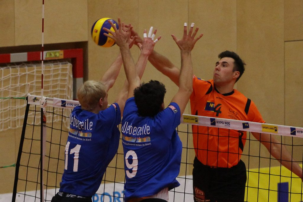 2018-19 DenizBank AG Volley League Men: SG VCA Amstetten NÖ gg. UVC Ried/Innkreis - 14-10-2018 - Bild zeigt: #4 Cameron Branch - Credit: Peter Maurer