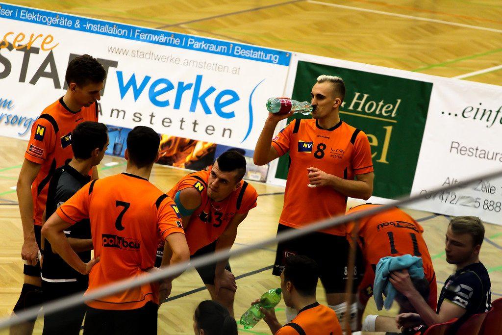 2018-19 DenizBank AG Volley League Men: SG VCA Amstetten NÖ gg. SG Union Raiffeisen Waldviertel - 07/11/2018 - Bild zeigt: SG VCA Amstetten NÖ - Credit: Peter Maurer