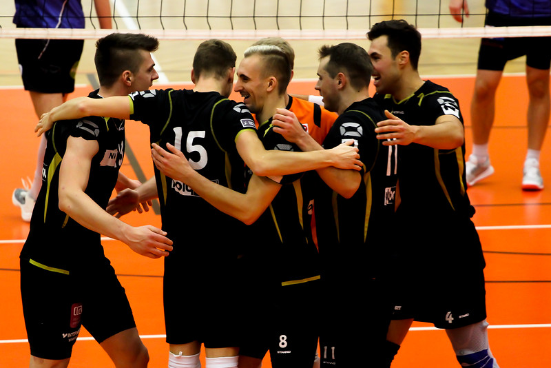 2018-19 DenizBank AG Volley League Men: SG VCA Amstetten NÖ gg. VBC TLC Weiz - 16/11/2018 - Bild zeigt: SG VCA Amstetten NÖ - Credit: Peter Maurer - honorarfrei für redaktionelle Verwendung