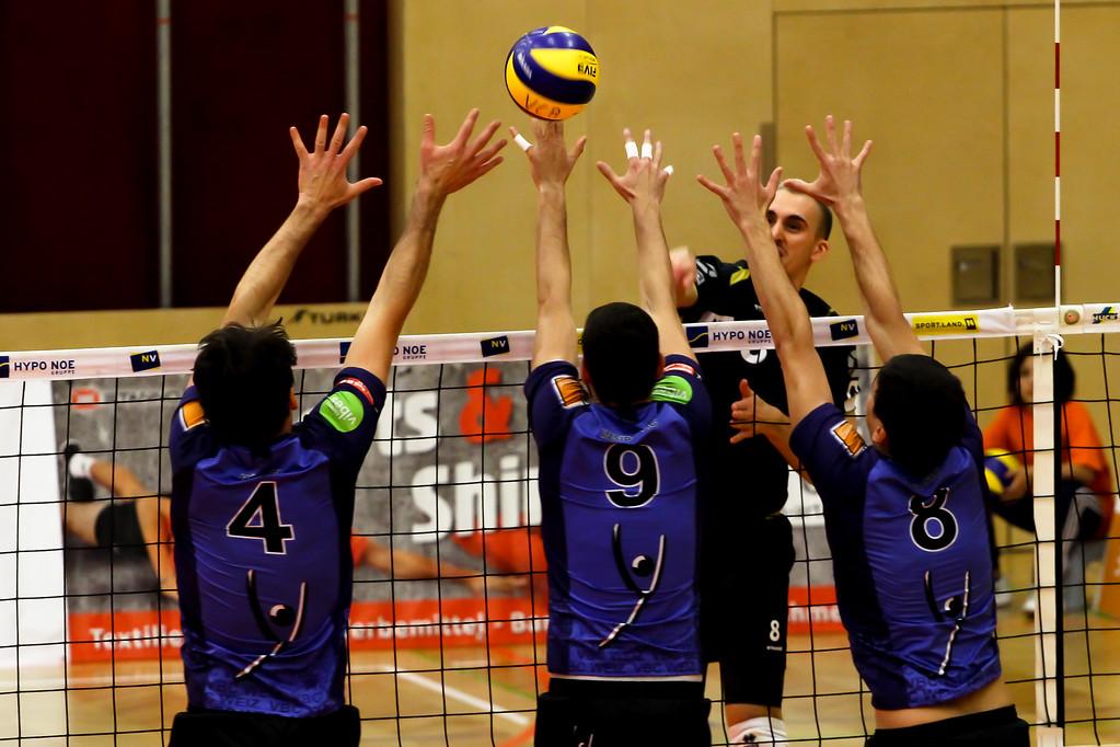 2018-19 DenizBank AG Volley League Men: SG VCA Amstetten NÖ gg. VBC TLC Weiz - 16/11/2018 - Bild zeigt: #8 Maciej Kleinschmidt - Credit: Peter Maurer - honorarfrei für redaktionelle Verwendung