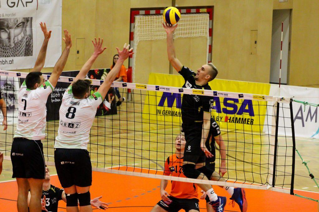 2018-19 DenizBank AG Volley League Men: SG VCA Amstetten NÖ gg. UVC Holding Graz - 08/12/2018 - Bild zeigt: #8 Maciej Kleinschmidt - Credit: Peter Maurer