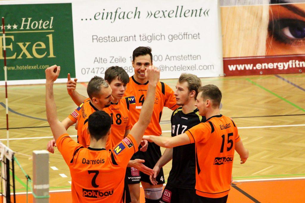 2018-19 DenizBank AG Volley League Men: SG VCA Amstetten NÖ gg. VBK Wörther-See-Löwen - 16/12/2018 - Bild zeigt: SG VCA Amstetten NÖ - Credit: Peter Maurer (honorarfrei bei red. Verwendung)