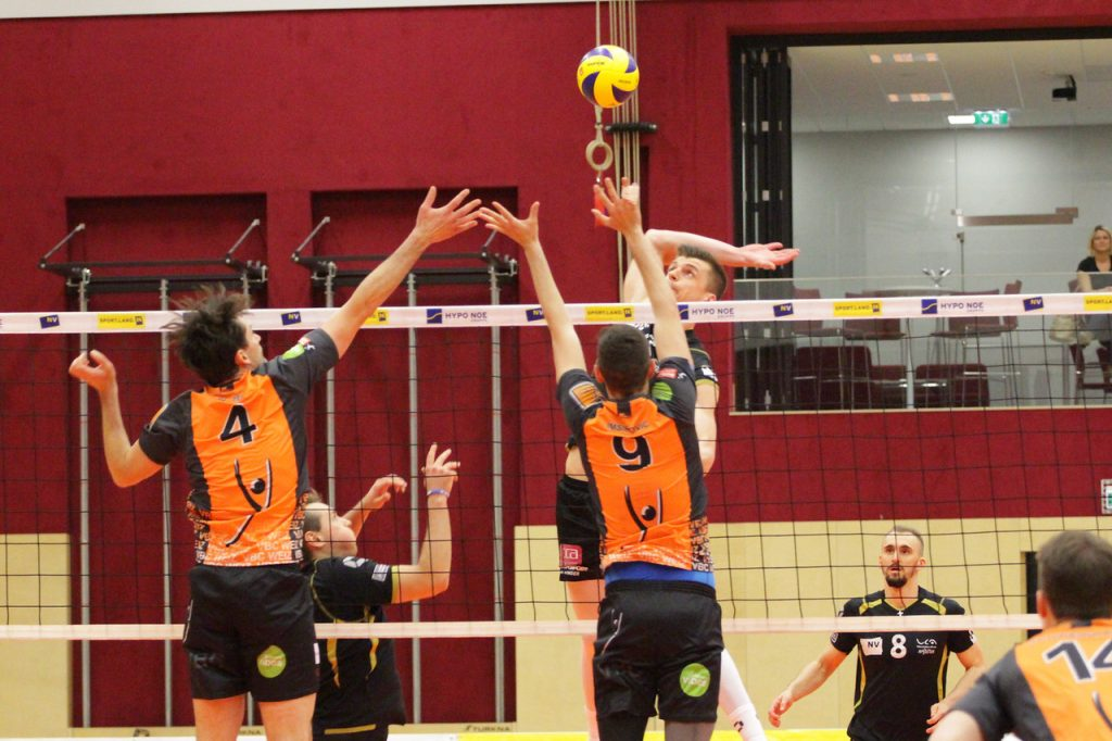2018-19 DenizBank AG Volley League Men: SG VCA Amstetten NÖ gg. VBC TLC Weiz - Spiel um Platz 5 - 22/03/2019 -  Bild zeigt: Kornel Kowalewski - Credit: Peter Maurer (honorarfrei bei redaktioneller Verwendung)