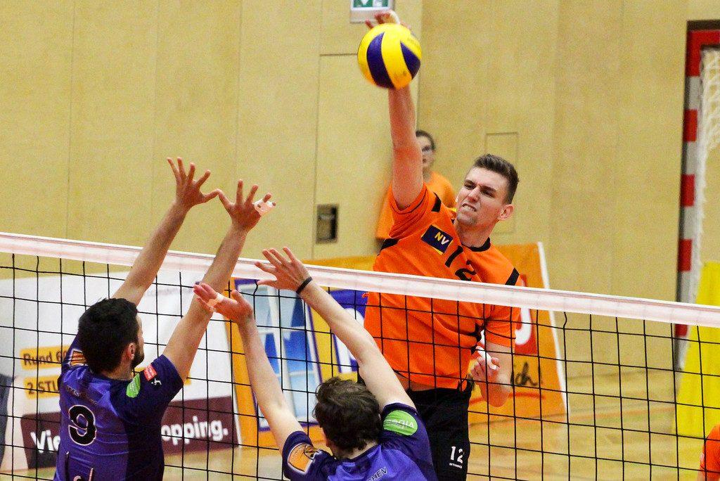 DenizBank AG Volley League Men 2018/19 - SG VCA Amstetten NÖ : VBC TLC Weiz - 03/04/2019 - Bild zeigt: #12 Fabian Schmiedbauer - Credit Peter Maurer